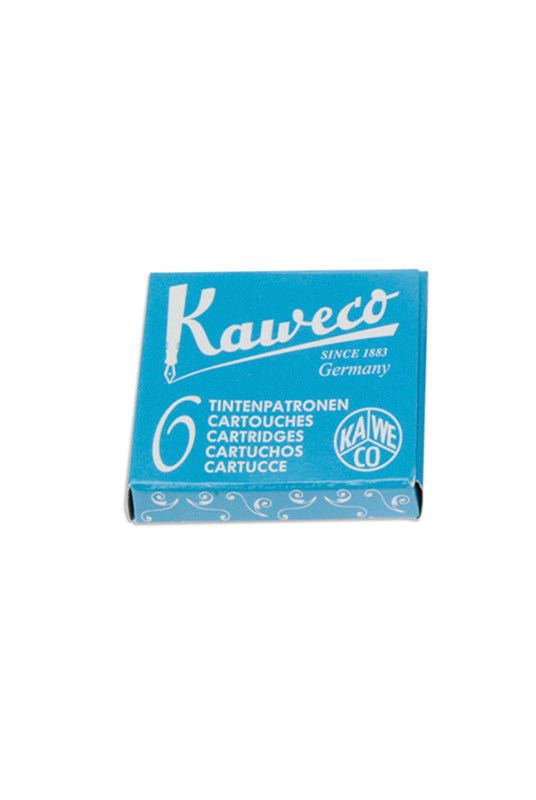 Kaweco - Fountain Pen Ink Cartridges - Pack of 6 - Turquoise