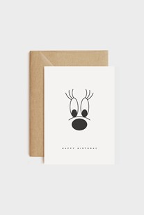 redfries - Single Letterpress Card - Big Lashes - Cards & Wrap Greeting Cards