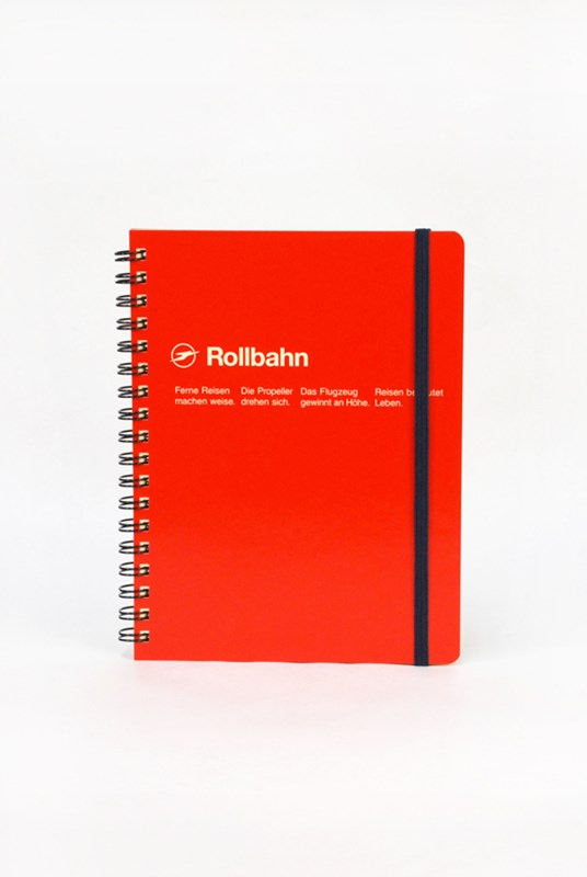 Delfonics - Rollbahn Notebook - Grid - Large - Red