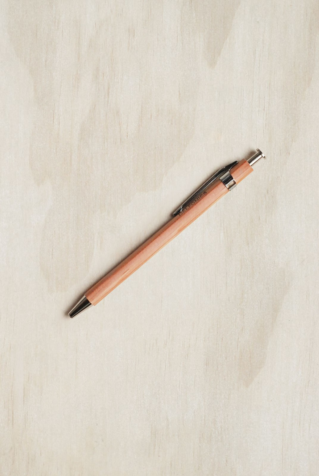Delfonics - Wooden Ballpoint Pen - Mini Size - Natural