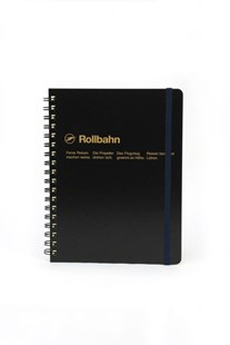 Delfonics - Rollbahn Notebook - Grid - Large - Black - Notebooks & Journals Notebook - Grid