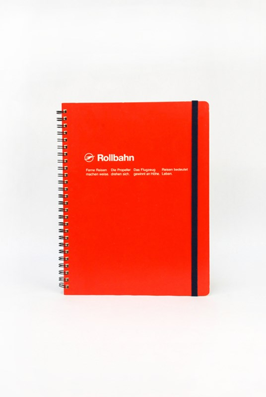 Delfonics - Rollbahn Notebook - Grid - Extra Large - Red