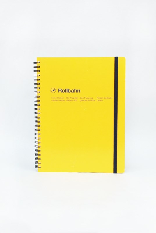 Delfonics - Rollbahn Notebook - Grid - Extra Large - Yellow