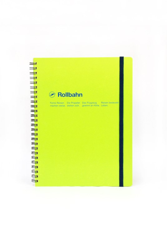 Delfonics - Rollbahn Notebook - Grid - Extra Large - Green