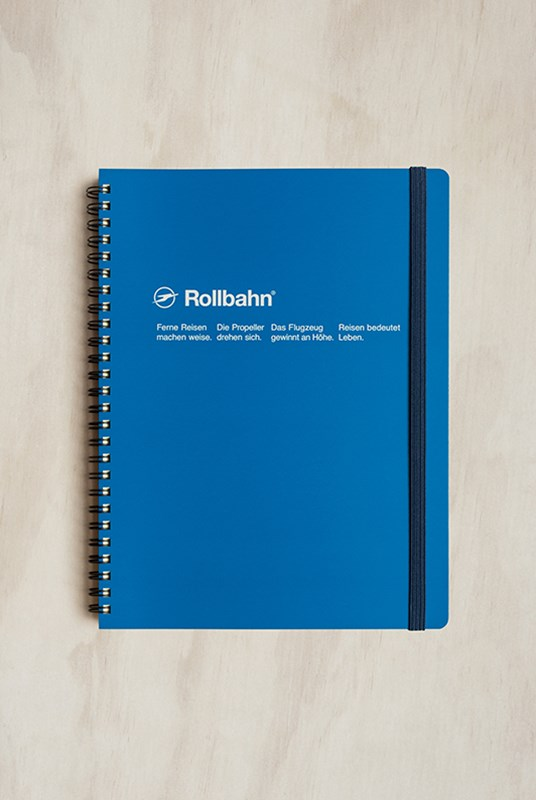 Delfonics - Rollbahn Notebook - Grid - Extra Large - Royal Blue