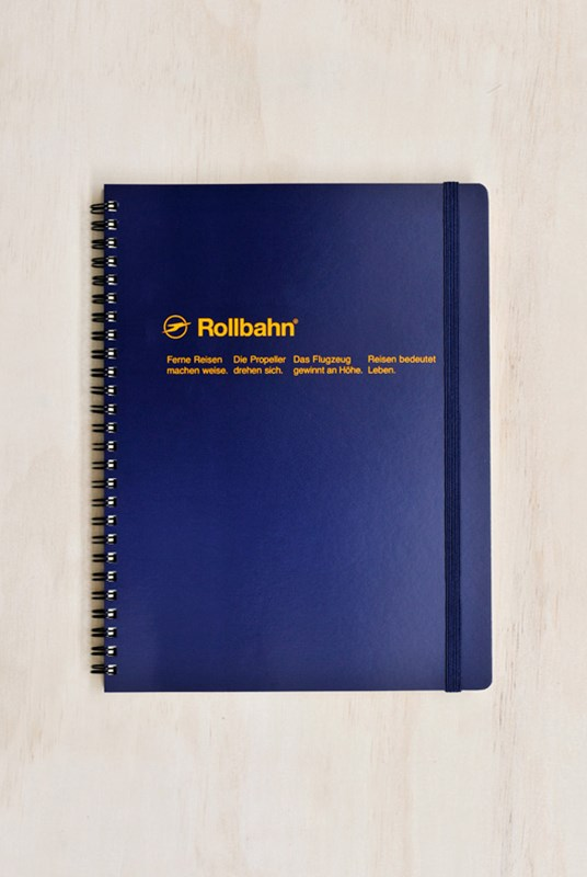 Delfonics - Rollbahn Notebook - Grid - Extra Large - Dark Blue