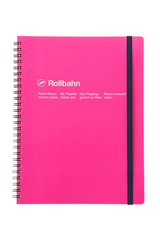 Delfonics - Rollbahn Notebook - Grid - Extra Large - Rose Pink