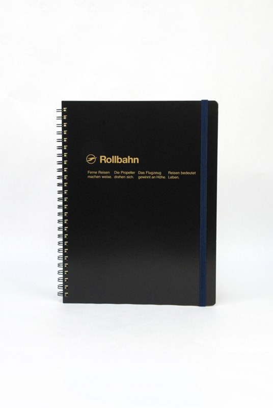 Delfonics - Rollbahn Notebook - Grid - Extra Large - Black
