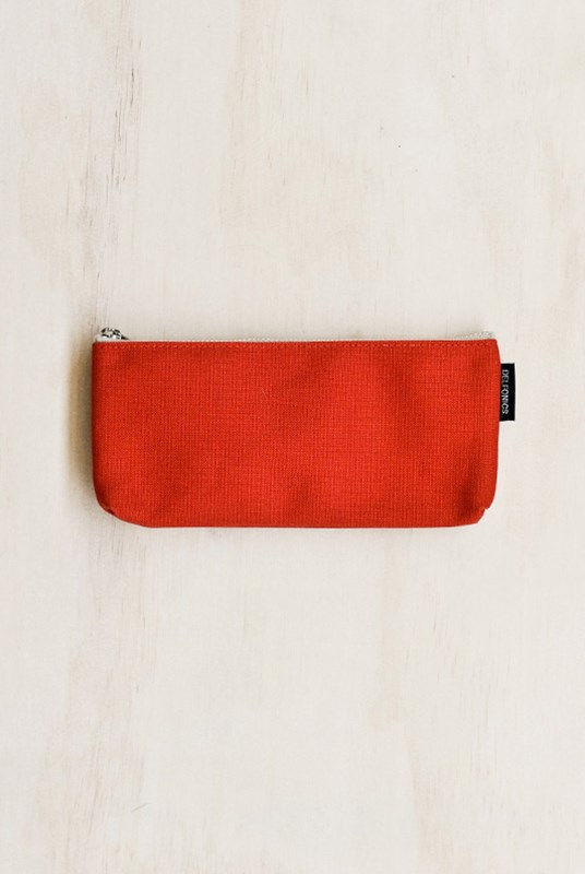 Delfonics - Canvas Pencil Case - Red
