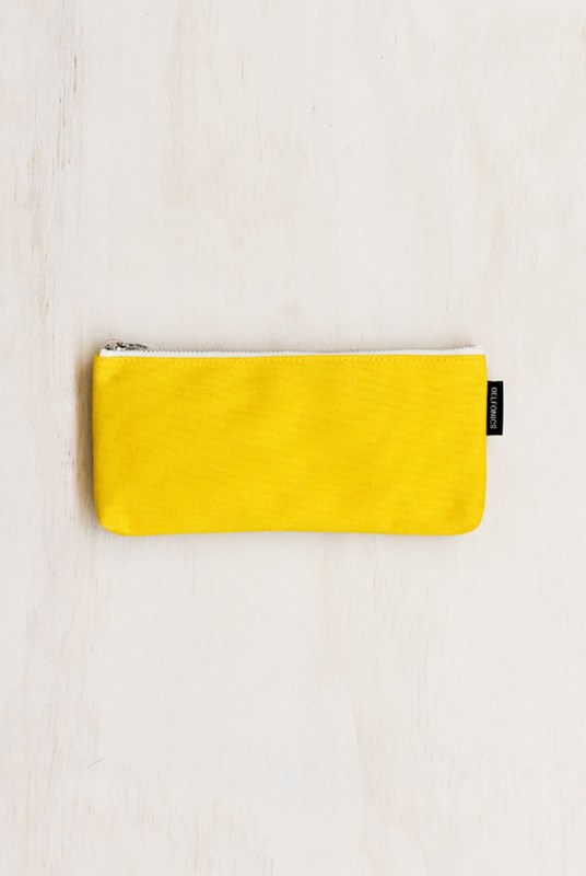 Delfonics - Canvas Pencil Case - Yellow