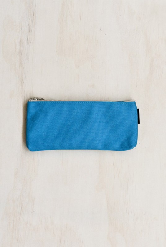 Delfonics - Canvas Pencil Case - Aqua Blue