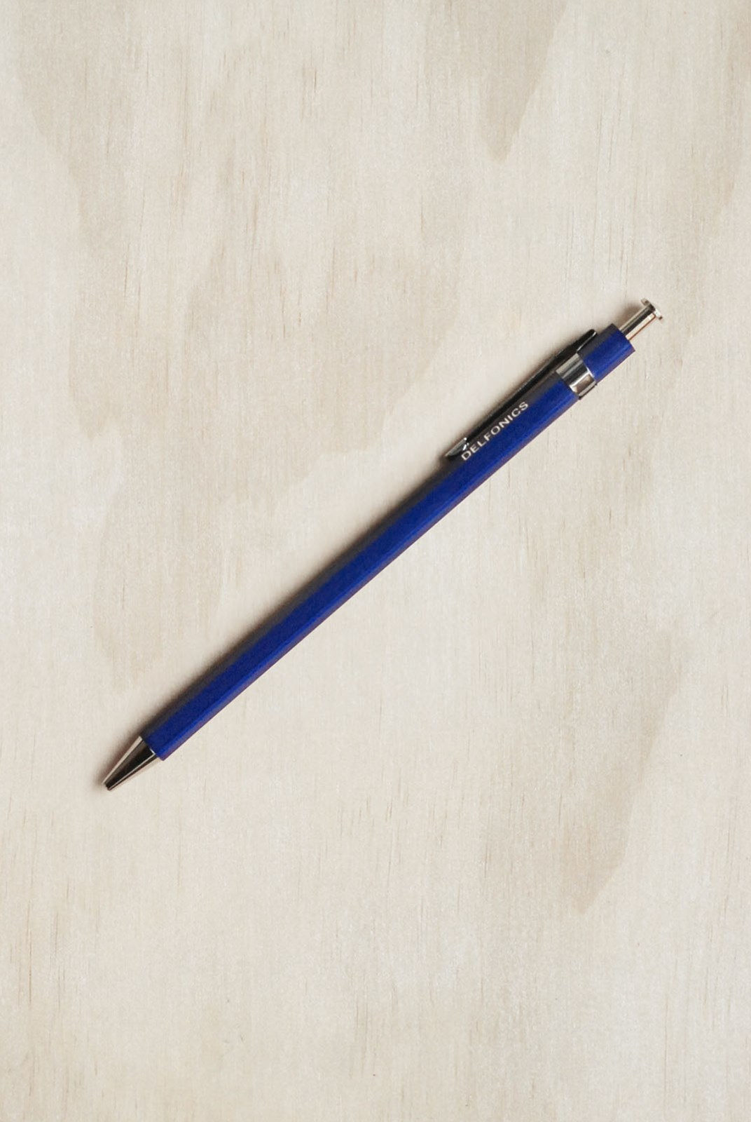 Delfonics - Wooden Ballpoint Pen - Regular Size - Dark Blue