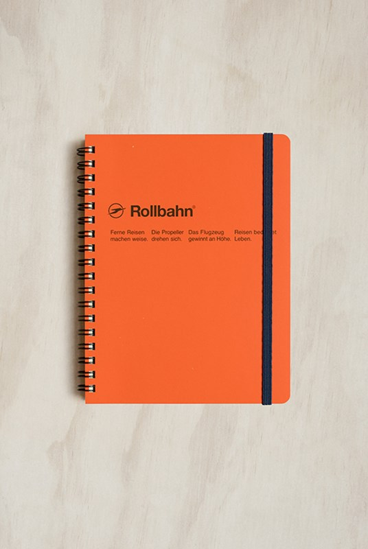 Delfonics - Rollbahn Notebook - Grid - Large - Orange