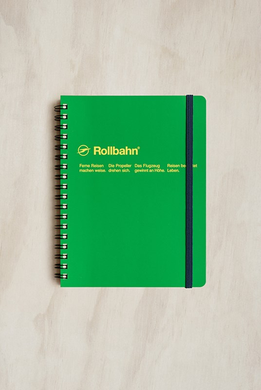Delfonics - Rollbahn Notebook - Grid - Large - Forest Green