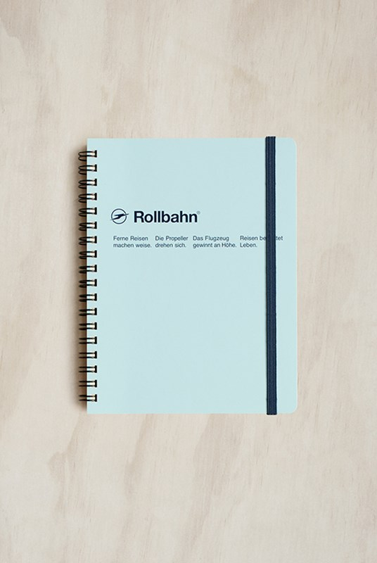 Delfonics - Rollbahn Notebook - Grid - Large - Sky Blue