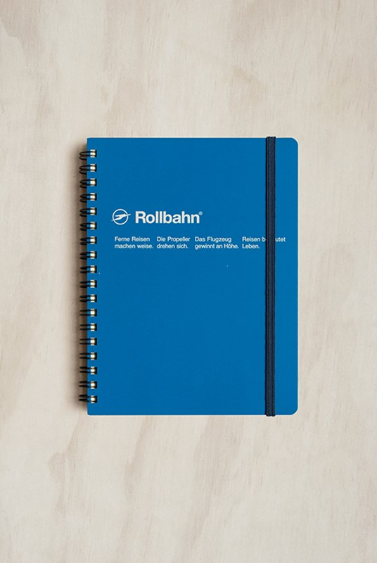 Delfonics - Rollbahn Notebook - Grid - Large - Royal Blue