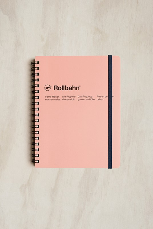 Delfonics - Rollbahn Notebook - Grid - Large - Baby Pink