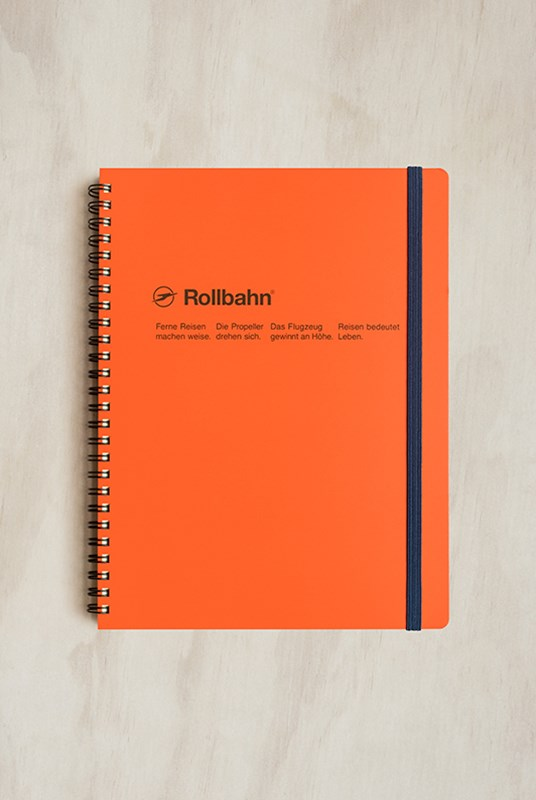 Delfonics - Rollbahn Notebook - Grid - Extra Large - Orange