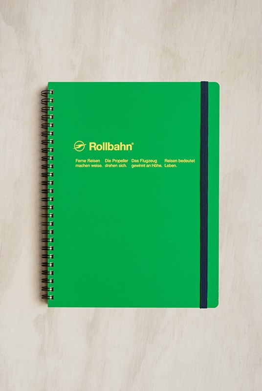 Delfonics - Rollbahn Notebook - Grid - Extra Large - Forest Green
