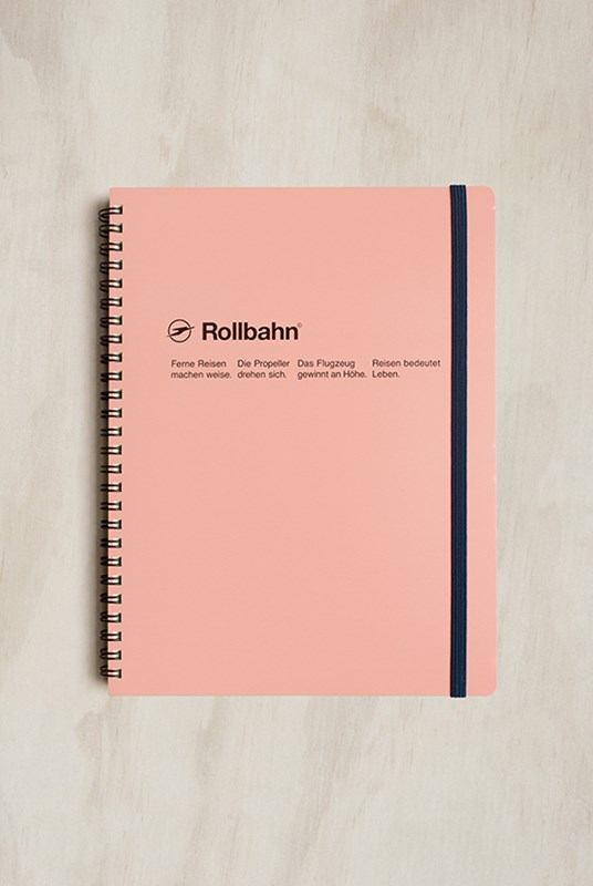 Delfonics - Rollbahn Notebook - Grid - Extra Large - Baby Pink