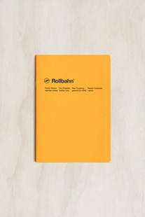 Delfonics - Rollbahn Slim Notebook - Grid - A5 - Yellow - Notebooks & Journals Notebook - Grid