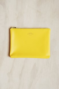 Delfonics - Quitterie Pouch - Medium - Yellow - Bags & Carry