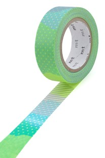 Masking Tape MT - Single Roll - Patchwork Blue & Lime