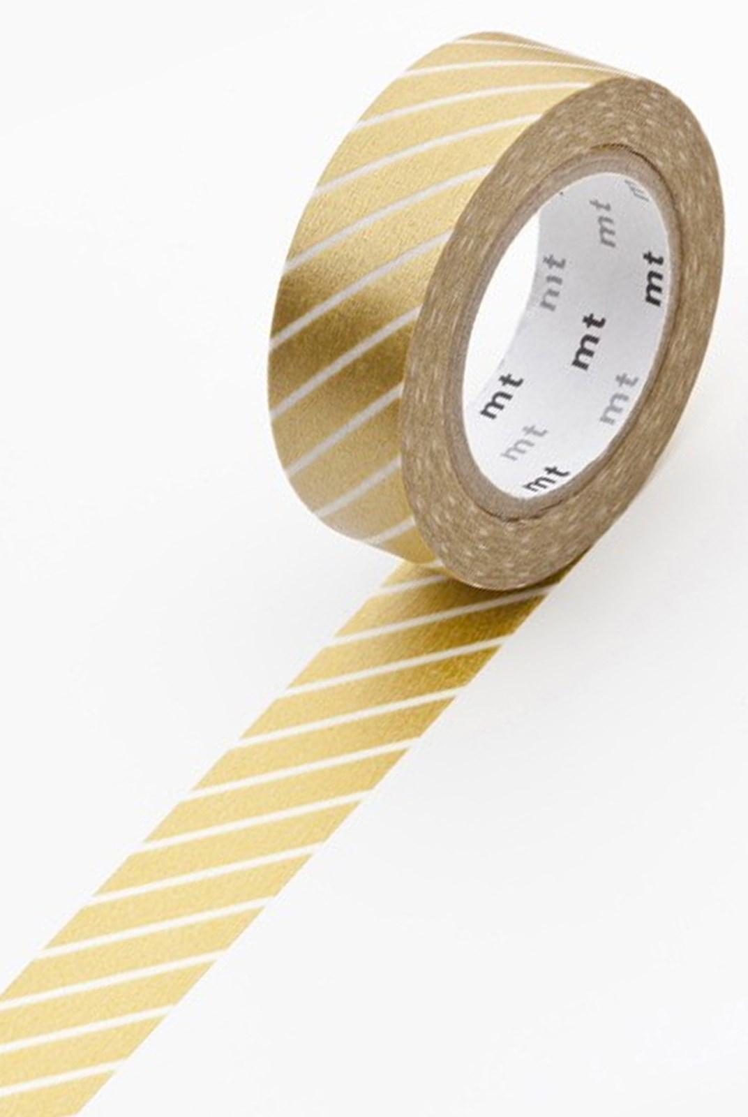 Masking Tape MT - Single Roll - Stripe Gold