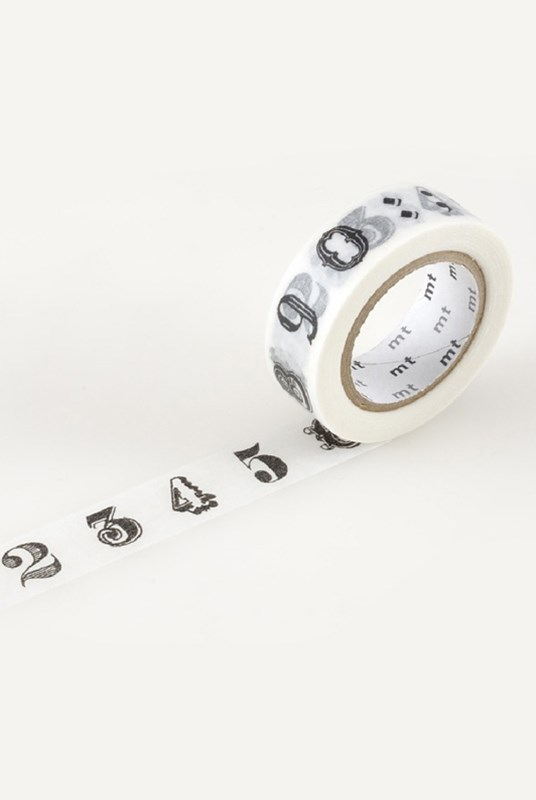 Masking Tape MT - Single Roll - Number Black