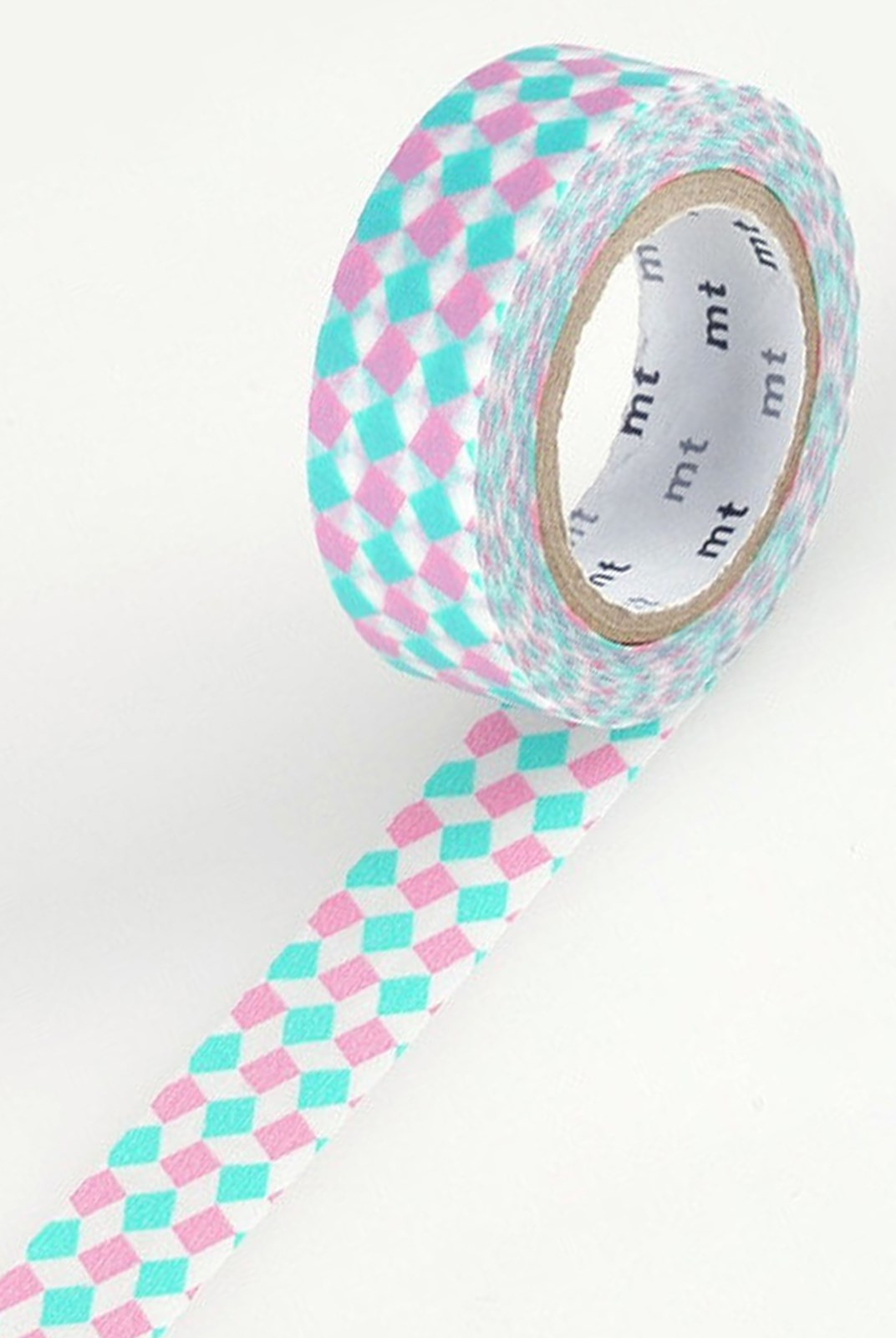 Masking Tape MT - Single Roll - Square Pink