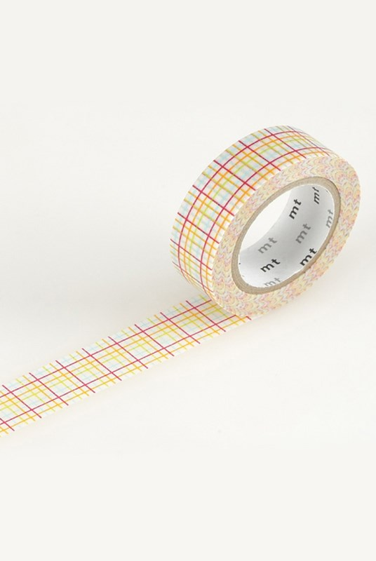 Masking Tape MT - Single Roll - Criss-Cross Red