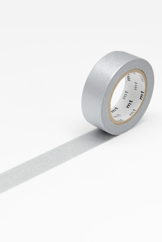 Masking Tape MT - Single Roll - Colour Block Silver
