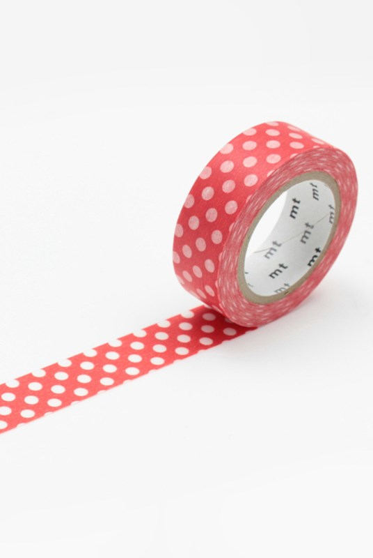 Masking Tape MT - Single Roll - Dot Red Base