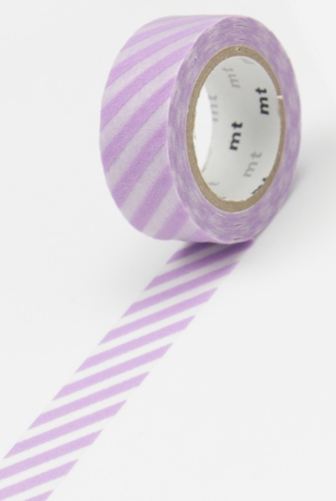 Masking Tape MT - Single Roll - Fabric - Stripe Purple