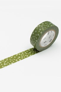 Masking Tape MT - Single Roll - Blossoms Green