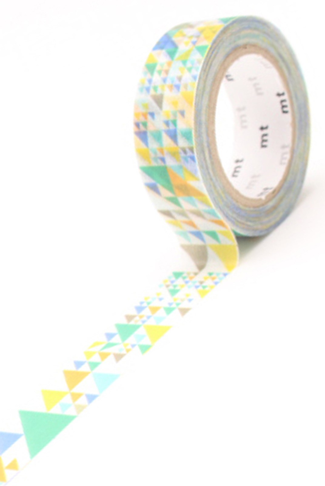 Masking Tape MT - Single Roll - Triangle Blue Deco