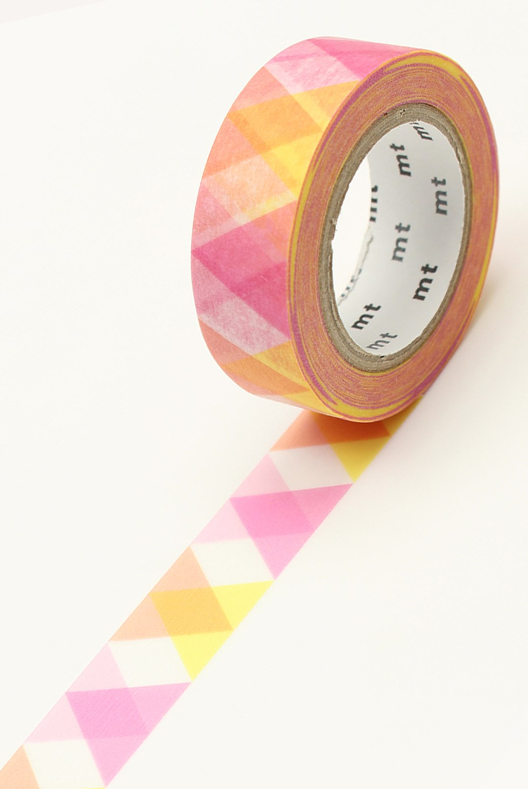 Masking Tape MT - Single Roll - Triangle & Diamond Pink Deco
