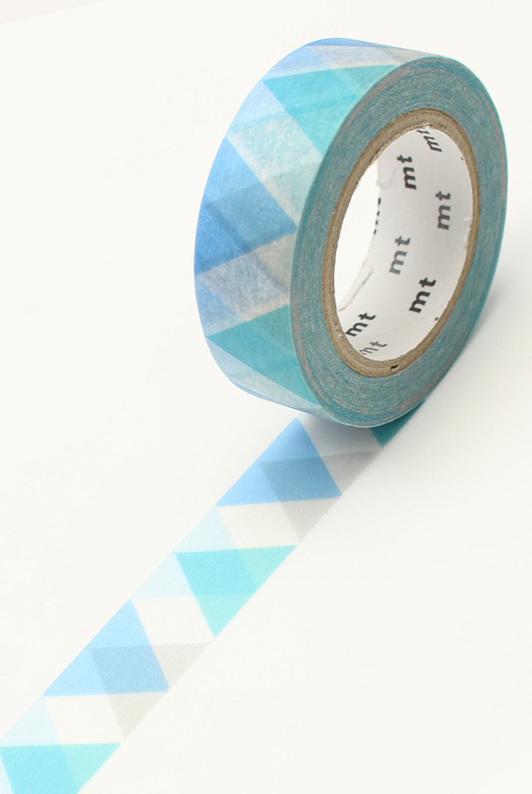Masking Tape MT - Single Roll - Triangle & Diamond Blue Deco