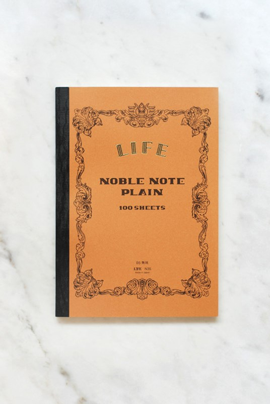 Life Stationery - Japanese Paper 'Noble Note' Notebook - Plain - B5 - Kraft