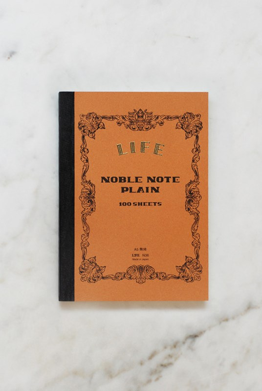 Life Stationery - Japanese Paper 'Noble Note' Notebook - Plain - A5 - Kraft