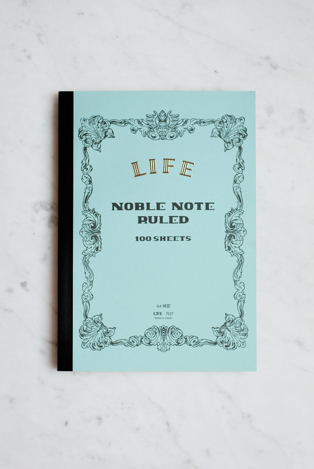 Life Stationery - Japanese Paper 'Noble Note' Notebook - Ruled - A4 - Light Blue
