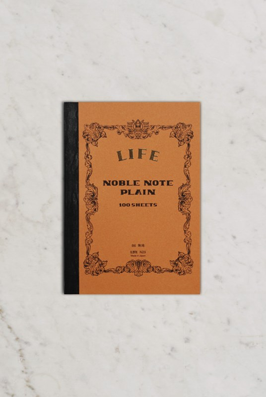 Life Stationery - Japanese Paper 'Noble Note' Notebook - Plain - B6 - Kraft