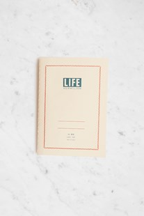 Life Stationery - Japanese Paper 'Vermilion' Notebook - Ruled - B6 - Cream - Notebooks & Journals Notebook - Ruled