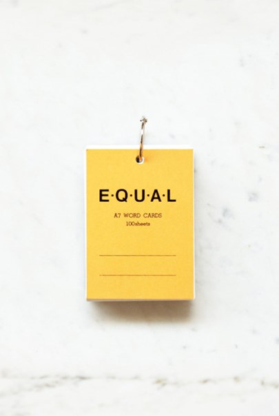 Life Stationery - Japanese Paper Notepad - Equal Memo Block - Plain A7 - Yellow