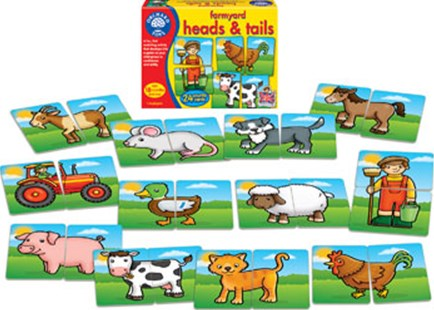 Orchard Game - Farmyard Heads & Tails by  (5011863102003) - Game - Children's Toys & Games Games & Puzzles