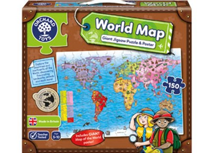 Orchard Jigsaw - World Map Puz & Poster 150pc by  (5011863301390) - Jigsaw - Children's Toys & Games Games & Puzzles