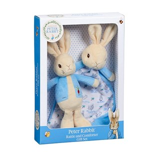 Peter Rabbit Rattle & Comfort Blanket Gift Set