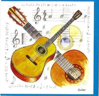 Notelets - Acoustic Guitar Design (Pack of 5) - Entertainment Music General