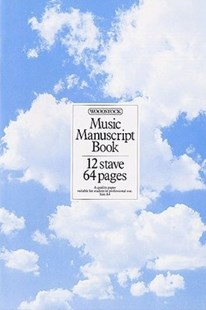 Music Manuscript Book, 12 Stave 64 Pages by  (5020679108017) - PaperBack - Entertainment Music General