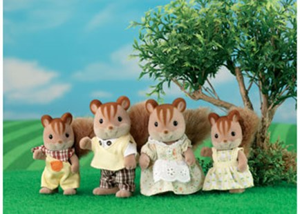 Sylvanian Families - Walnut Squirrel Family - Children's Toys & Games Figures & Dolls